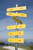International signposts Royalty Free Stock Photography