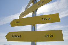 International signposts Stock Images