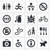International signs icon set Royalty Free Stock Images