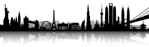 International skyline vector illustration