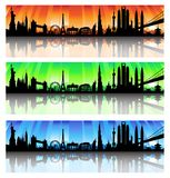 International skyline  Set Stock Photos