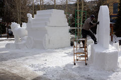 International Snow Sculpture Competition Stock Images