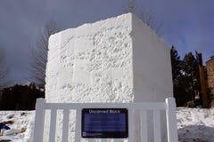 International Snow Sculpture Competition Stock Photos