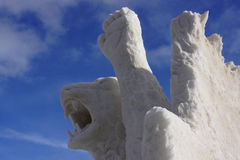 International Snow Sculpture Competition Stock Photo