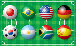 International soccer football flag Royalty Free Stock Photography