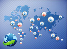 International social media network. illustration Royalty Free Stock Photography