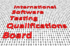 International software testing qualifications board. In the form of binary code, 3D illustration Royalty Free Stock Photo