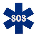 International SOS sign. On a white background Royalty Free Stock Images