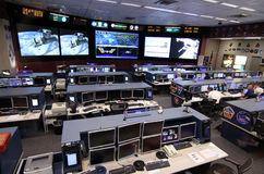 International Space Station Mission Control Center Stock Photo
