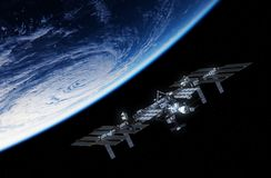 International Space Station Orbiting Planet Earth Royalty Free Stock Photography