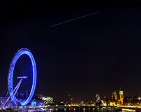 The International Space Station over London Stock Photos