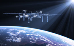 International Space Station In The Rays Of Sun Stock Image