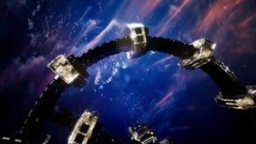 International space station stock video