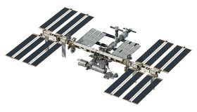 International Space Station On White Background Royalty Free Stock Image