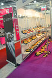International specialized exhibition for footwear, bags and accessories Mos Shoes Moscow fashionable shoes Stock Image