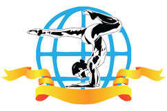 International sports acrobatics Stock Image