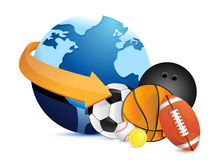 International sports concept. Illustration design over white Royalty Free Stock Photography