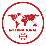 International stamp Royalty Free Stock Photography