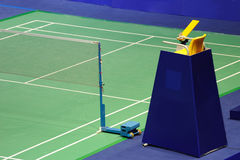 International standard Badminton court Stock Image