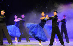 International Standard Dance-The campus show Royalty Free Stock Images