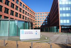 International Statistical Institute ISI, CBS in Dutch, in the Hague, the Netherlands. The Hague, the Netherlands. October 2018. International Statistical royalty free stock photos