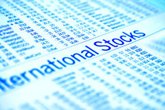 International stocks Stock Photo