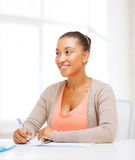 International student studying in college Stock Images