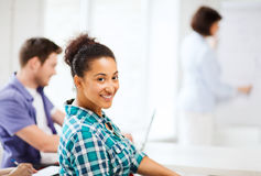 International student studying in college Stock Photography