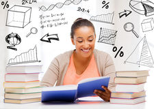 International student studying in college Royalty Free Stock Photos
