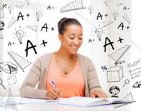 International student studying in college Royalty Free Stock Photography