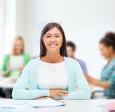 International student studying in college Royalty Free Stock Image