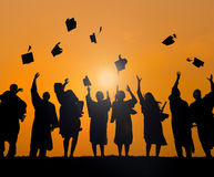 International Students Celebrating Graduation royalty free stock photo