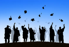 International Students Celebrating Graduation Stock Image