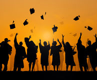 International Students Celebrating Graduation Stock Images
