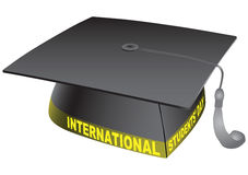 International Students Day. Student classic hat with the words International Students Day. Vector illustration Royalty Free Stock Photos