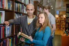 International students in a library Royalty Free Stock Photography