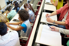 International students at university lecture hall Stock Photo