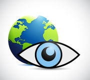 International surveillance eye concept Royalty Free Stock Image