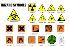International symbols of danger Royalty Free Stock Images