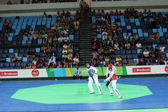 International Taekwondo Tournament - Rio 2016 Test Events - UZB vs IRI stock photos