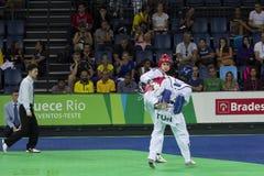 International Taekwondo Tournament - Rio 2016 - USA vs TUN Stock Photos