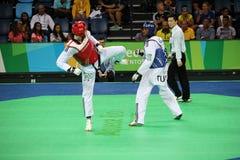 International Taekwondo Tournament - Rio 2016 - USA vs TUNISIA Stock Photo
