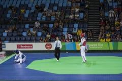 International Taekwondo Tournament - Rio 2016 - USA vs TUNISIA Royalty Free Stock Image