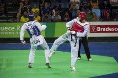 International Taekwondo Tournament - Rio 2016 - USA vs TUNISIA Stock Images
