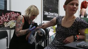 International Tattoo Convention in Krakow stock video