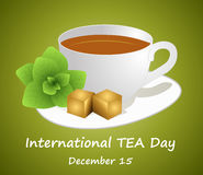 International tea day, december 15. International tea day celebrate december 15 vector illustration