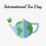 International Tea Day, december 15. Tea pot royalty free illustration