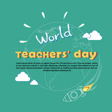 International Teacher Day World Holiday Banner Royalty Free Stock Photo