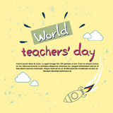 International Teacher Day World Holiday Banner Royalty Free Stock Photos