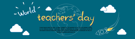 International Teacher Day World Holiday Banner Stock Images